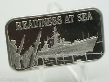 1974 USSC MARK IV REVERSE READINESS AT SEA WAR SHIP MISSILES ROCKETS SILVER BAR