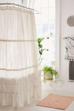 NEW URBAN OUTFITTERS RAYNA TIERED RUFFLE SIDE TIE RUCHED BOHO SHOWER CURTAIN