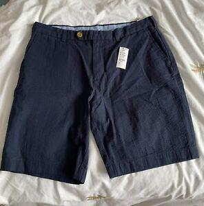 Brooks Brothers Navy Blue Bermuda Shorts Size UK 35 Waist Rrp £100