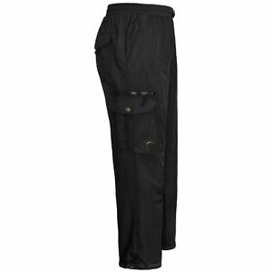 Mens Fleece Lined Cargo Combat Trousers Work Bottoms  Elasticated Thermal Pants