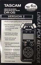 TASCAM - DR-05 v2 - Portable Handheld Digital Audio Recorder - Black
