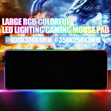 300*800*4mm Large RGB Colorful LED Lighting Gaming Mouse Pad Mat for PC Laptop