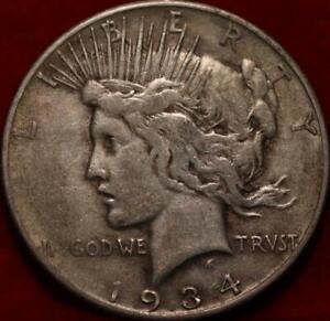 1934-S San Francisco Mint Silver Peace Dollar