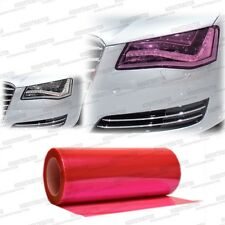 "Gloss Pink Color Tint Headlights Fog Lights Vinyl Film Roll Sheet - 12"" x 24"""