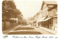 Vintage 1921 Reproduction Postcard, Walton On the Naze, High Street, Essex 54U
