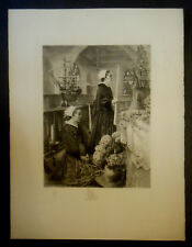 Eau forte de Frédéric Émile JEANNIN (1859-1925) d' après Henri ROYER / T.A.T.L.