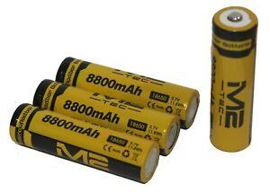 4x Hochleistung Power Akku 18650 Lithium Ionen mit je 8800mAh 3,7V Li-ion Accu