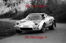 Jean-Claude Andruet Lancia Stratos HF Tour de Corse Rally 1974 Photograph 1