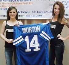 Craig Morton Signed Blue Custom Jersey - Dallas Cowboys Super Bowl Starting QB