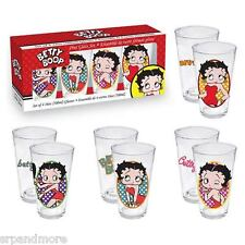 Betty Boop Pint Glass 4-Pack-New in Box