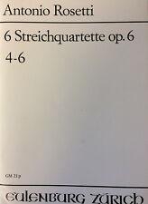 Rosetti - 6 Streichquartette Op.6 4-6