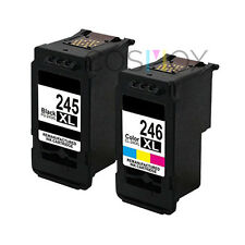 Set of 2 Remanufactured 245XL Black 246XL Color High Yield Ink for Canon PIXMA