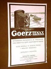 Pubblicità d'epoca dei primi del '900 Macchine fotografiche Goerz Tenax