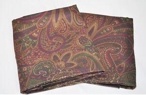 Standard Pillowcases made w Ralph Lauren New Bohemian Burgundy Paisley Fabric