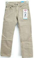 New Signature Levi Strauss Boys S67 Straight Athletic Leg Khaki Jeans 7 Regular