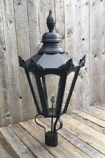 Large hexagonal Black lantern Street light lantern black lantern