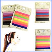 8 Hair Bobbles Elastics Hairband Multi Colour Thick Snag Free Tie Holder Band