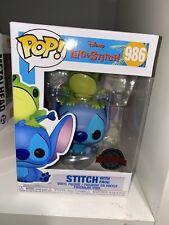 Funko Pop! Disney Stitch With Frog #986 + Pop Protector