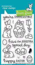 Lawn Fawn Clear Stamp Set  (15)  EGGSTRA SPECIAL EASTER Bunny Eggs LF840