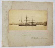 Antique Early Photograph Camphill Tall Ship Naval Nautical Boat Harbor