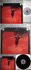 ANDREJ LÜTSCHG Bach Sonatas & Partitas - Violin solo SWISS ONLY 3 LP -1 LP S.S.