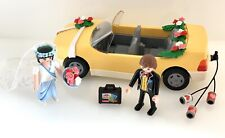 Playmobil Wedding Car Figures 4307 Geobra Yellow Car & Bride Groom
