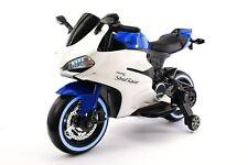 Street Racer 12V Electric Kids Ride-On Motorcycle | Blue