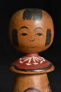 "16cm(6.3"") Japanese Antique Nemariko Kokeshi Doll 1942 : no signed"