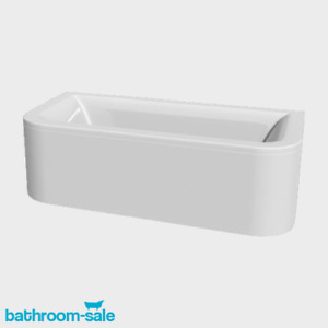 Trend 1700 x 700 Dee Shaped Back to Wall Bath inc Panel and Legs | RRP: £599