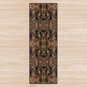 Forest Totem Yoga Mat. High Quality UK Designer, Padded + Non-Slip rubber base