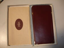 CARTIER GLASSES CASE RED LEATHER