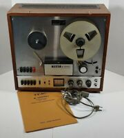 Vintage Teac A-1200U Reel To Reel 3 Motor Stereo Tape Deck Please Read Discrip