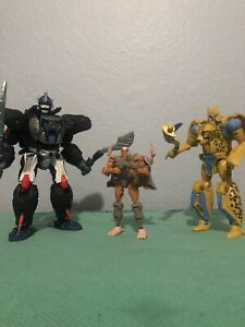 Transformers Kingdom lot (Optimus primal, Cheetor and Rattrap)