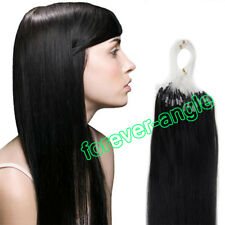 Easy Loop Micro Ring Beads Tip Indian Remy Human Hair Extensions100S/200S AAAAAA