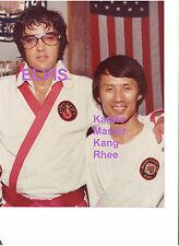 ELVIS KARATE MASTER KANG RHEE 9/9/74 VINTAGE ORIGINAL 8X10 KODAK PHOTO CANDID
