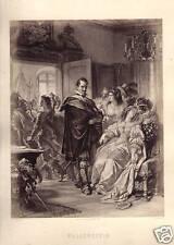 Wallenstein's Death by Jaeger Sepia Antique Print 1875
