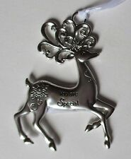 wd You are Special Merry Reindeer Christmas Ornament Ganz car charm crystal