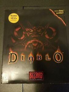 Diablo I Original Big Box Factory Sealed PC Game + Strategy Guide - Read Below