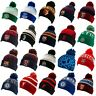 Football Team Knitted Ski Bobble Hat Turn Up Cuff Soccer Official Licensed Items