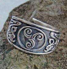 massiver Keltischer Ring Triskel 925 Silber Gr52-59 variabel Kelten Silberring
