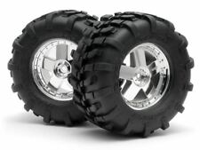 HPI GT Tires, S Compound, Mounted on GT5 Chrome Wheels, 160x86mm, (1 pair)