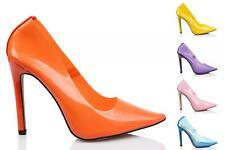 Nuevo Damas Zapatos De Taco PERSPEX Tribunal Zapatos Alta Moda Zapatos Talla 3-8