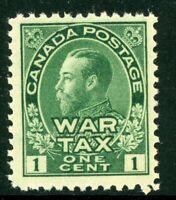 Canada 1915 War Tax 1¢ Green Admiral Scott #MR1 MNH H849