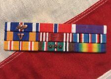 US Army Air Corps Mounted 9 Ribbon Bar DFC Bronze Star AM WW2