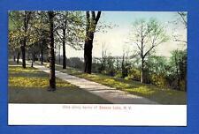 Vintage Postcard Vista Along Banks of Seneca Lake, NY Geneva (South Main St.)