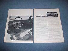 1961 Facel Vega Facellia Vintage Road Test Info Article