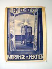 MORANGE & FERTIER AFFICHE TRES RARE ET ORIGINALE DE CONCERT  (1978)