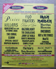 READING 2005 - Pixies Foo Fighters Iron Maiden - MUSIC NME ADVERT 12 X 10 in