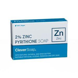 2% Zinc Pyrithione Soap Bar (Vegan-Friendly) - Clever Soap