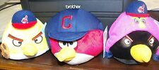 CLEVELAND INDIANS LOT OF 3 DIFFERENT PLUSH ANGRY BIRDS NEW WITH TAGS